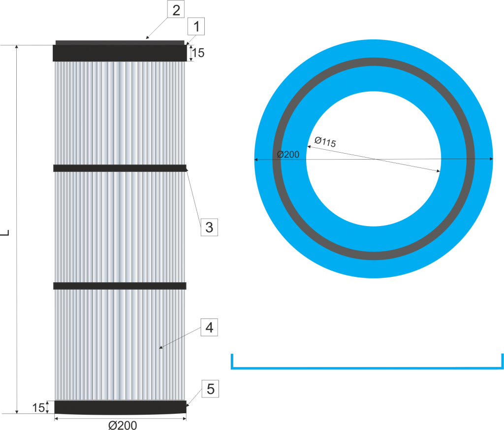 Cartucho filtrante  200-DINS
