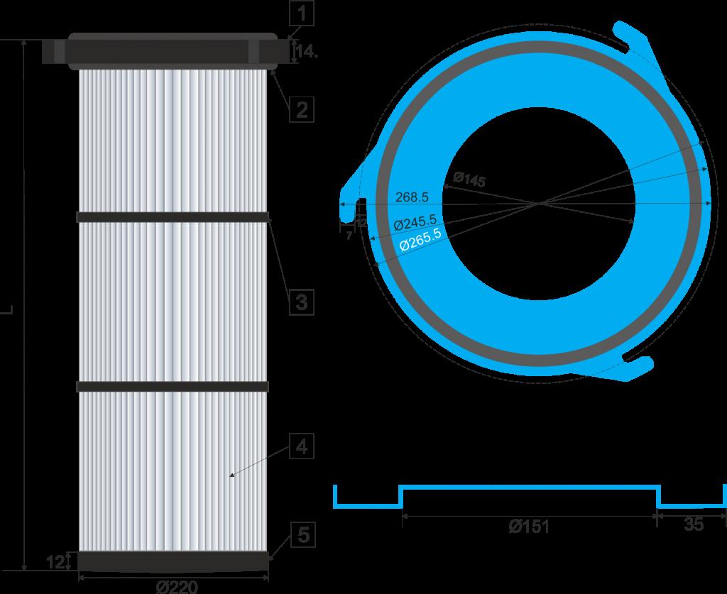 Cartucho filtrante  218-3G