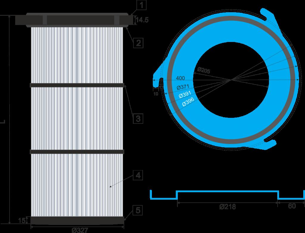 Cartucho filtrante 325-3G