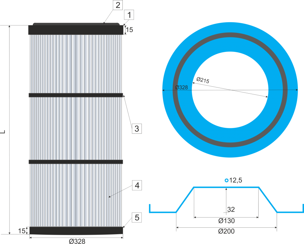 Cartucho filtrante  325-DINA