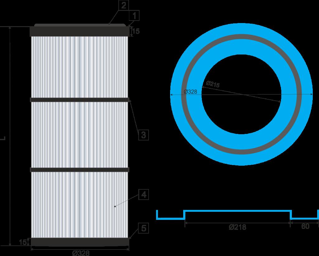 Cartucho filtrante  325-DINS